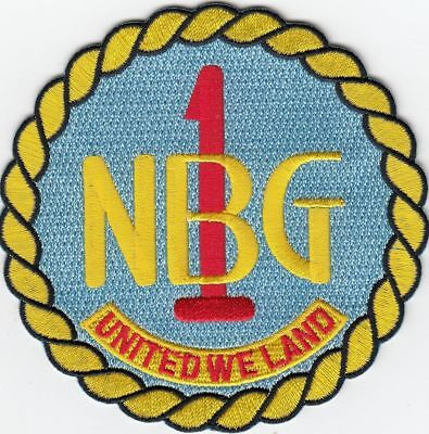 US NAVY PATCH - NAVAL BEACH GROUP ONE MILITARY PATCH