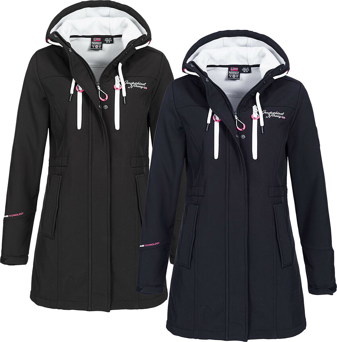 Geographical Norway Damen Herbst Softshell Jacke Parka winter Soft shell Jacke