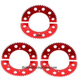 Sprocket Go Kart Racing 63-65 Tooth #35 Chain Axle Gear Hub Split Sprockets