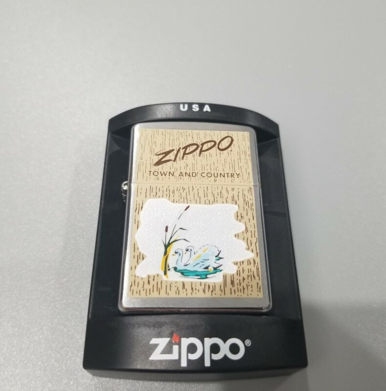 2004 Zippo Town And Country Swan Mint
