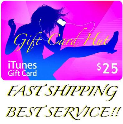 Apple $25 iTunes US Gift Card Karte Voucher Certificate USA USD 100% Genuine