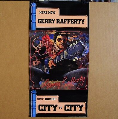 Gerry Rafferty-City To City/Baker Street-ORIGINAL 1978 PROMO Poster!