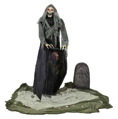 Morris Costume Graveyard Animated Reaper Halloween Decorations & Props. MR124392](Halloween Decorations Animated Props)