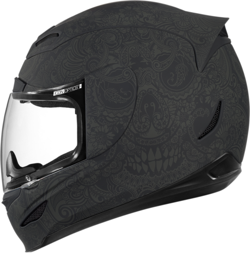 Icon Airmada Chantilly Motorcycle Full Face Helmet Flat Matte Black Medium MD