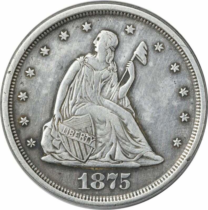 1875-S Twenty Cent Piece EF Uncertified