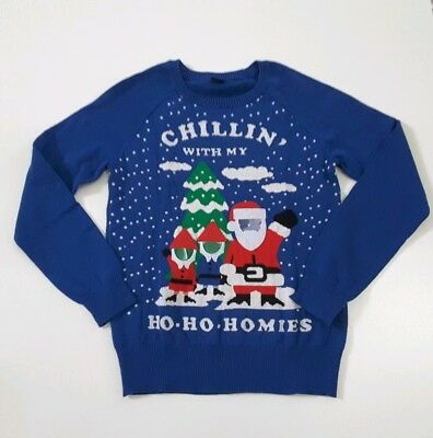 Chillin With My Ho-Ho-Homies Ugly Christmas Sweater Insert Family Photos Size S ()