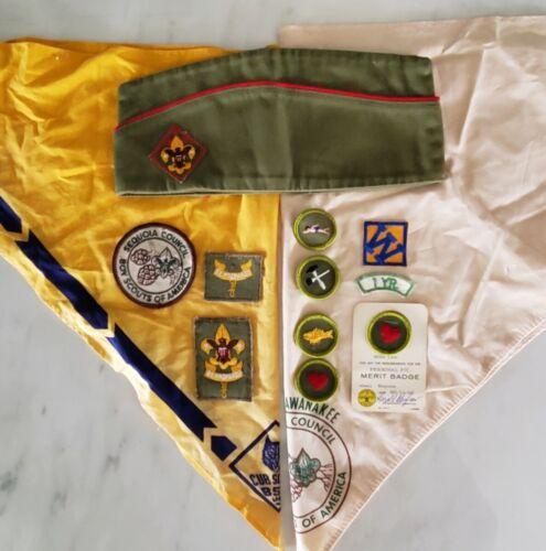 BOY SCOUTS Lot - Hat - Neckerchiefs - Patches - Seqouia Council - California