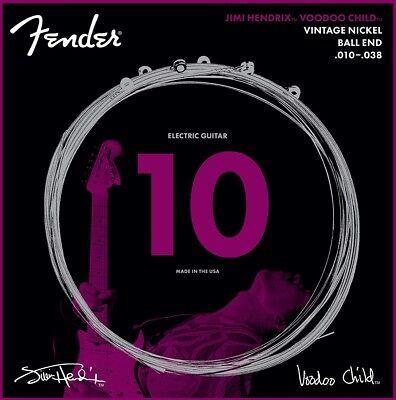 Fender Nickel Ball - Fender Jimi Hendrix Voodoo Child BALL-END NICKEL Electric Guitar Strings, 10-38