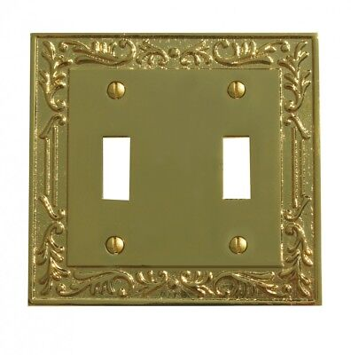 Victorian Switch Plate Double Toggle PVD Solid Brass | Renovator's Supply ()