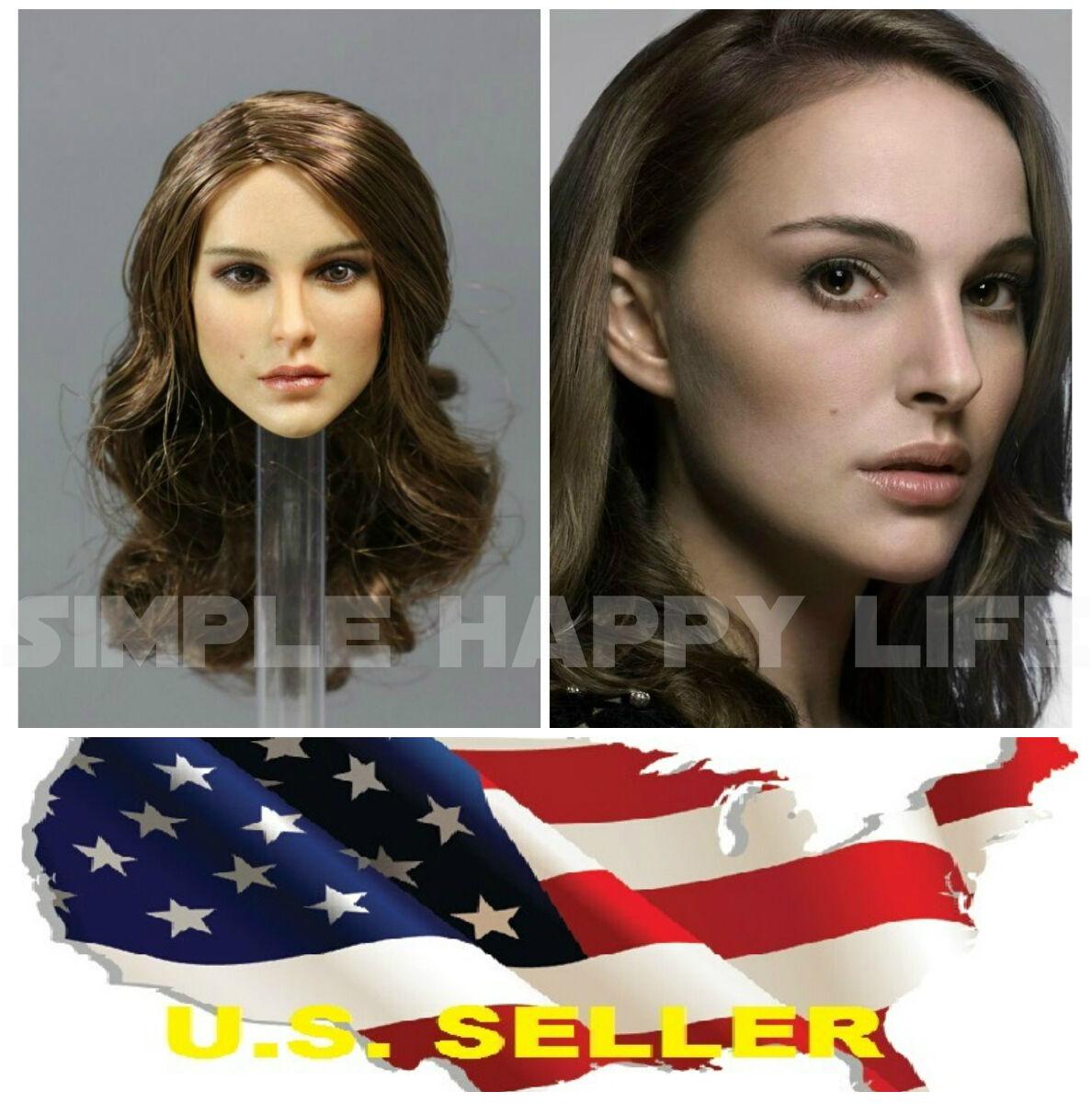 1//6 Natalie Portman Female Head Sculpt KIMI KT008 For Hot Toys Phicen In Stock
