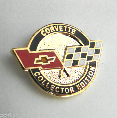 CHEVROLET CHEVY AUTO CORVETTE FLAGS COLLECTORS EDITION LAPEL PIN BADGE 3/4 INCH