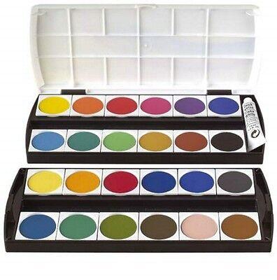 Deckfarbkasten Geha 24 Farben inklusive Deckweiß Farbkasten Tuschkasten