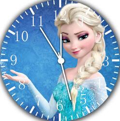 Disney Frozen Elsa Frameless Borderless Wall Clock Nice For Gifts or Decor A471