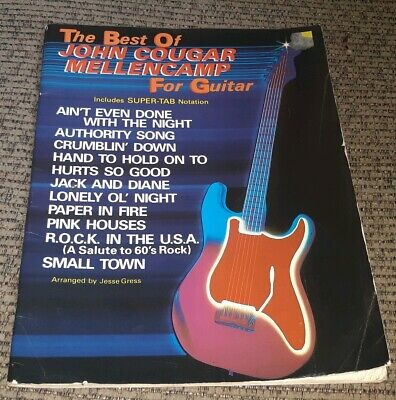 BEST OF JOHN COUGAR MELLENCAMP FOR GUITAR: INCLUDES SUPER TAB sheet music