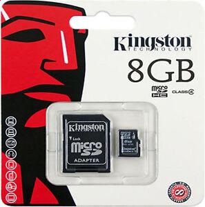 ORIGINALE-8GB-Kingston-Scheda-di-memoria-Micro-SD-CON-ADATTATORE-TF-Cellulari