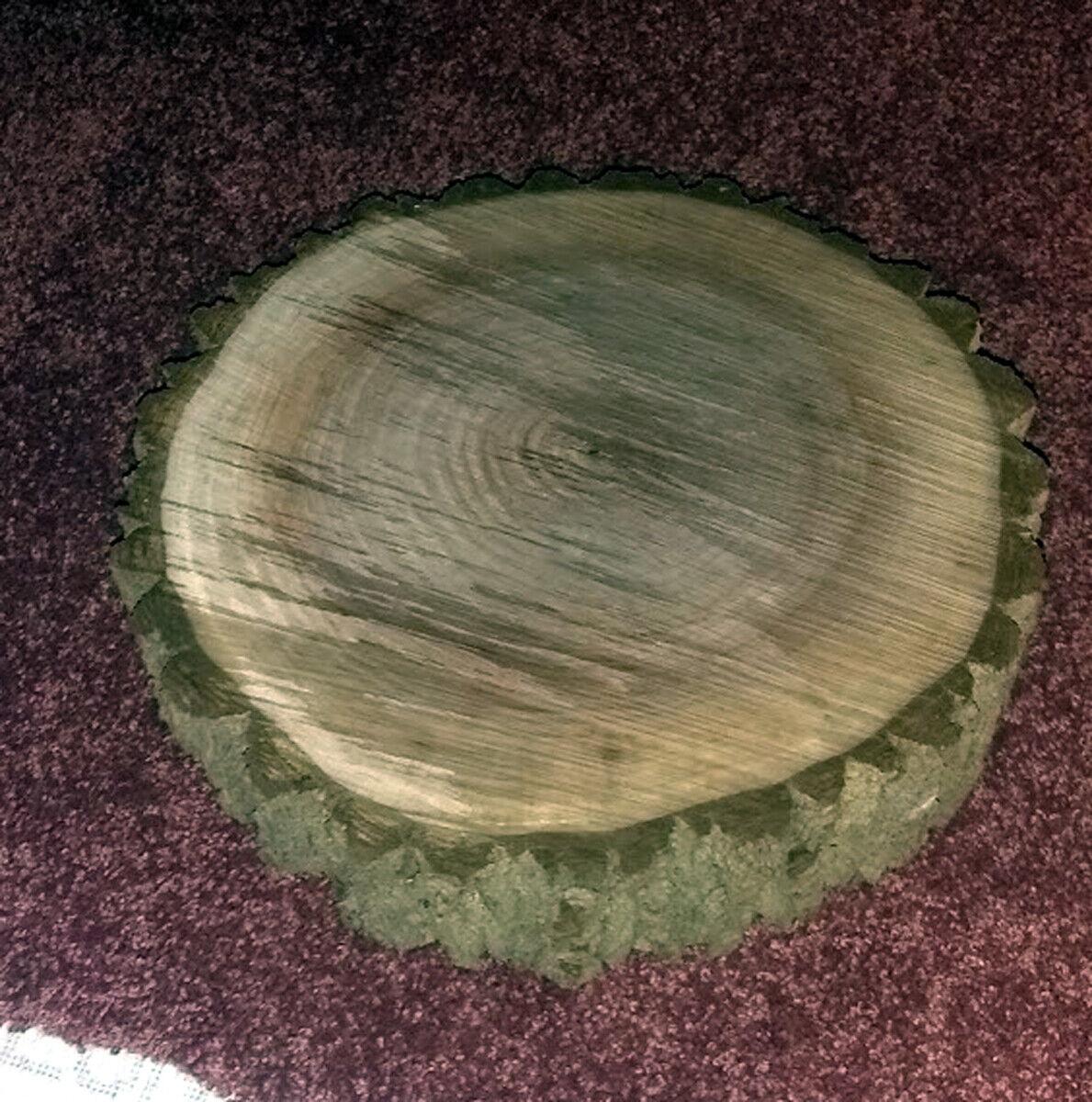 Black Walnut Live Edge Round 10 Diameter 3.5 THICK - Plaque, Clock, Etc. - $25.00
