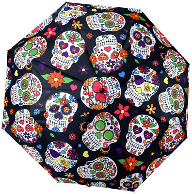 Day of the Dead Telescopic Umbrella w/ Cover - -