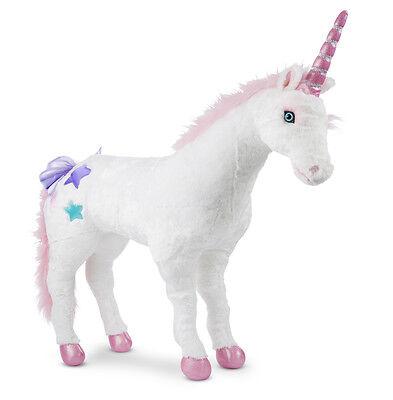 Melissa and Doug Plush Animal Stuffed Jumbo Unicorn - New