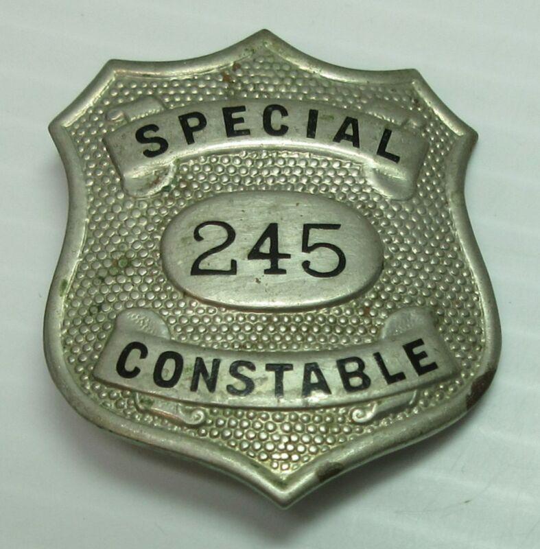 Obsolete Special Constable No. 245 Shield Shape Police Badge