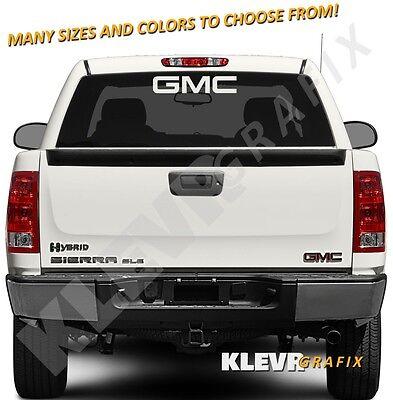 GMC Logo Vinyl Decal Sticker Sierra Canyon Truck Acadia Terrain Yukon Denali (Sierra Denali Truck)