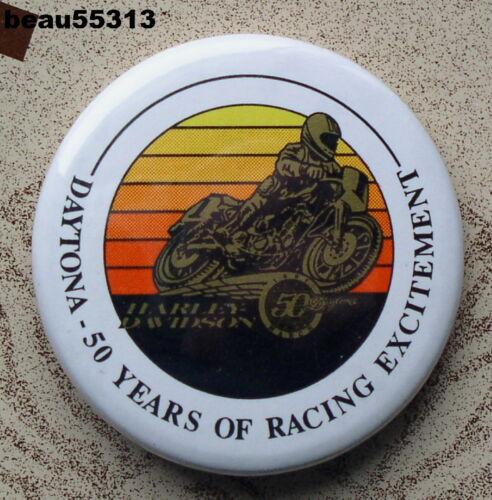 HARLEY DAVIDSON DAYTONA 1991 50th ANNIVERSARY HOG RALLY VEST JACKET BUTTON PIN