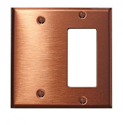- Switchplate Brushed Solid Copper GFI Blank | Renovator's Supply