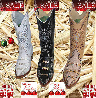 MENS WESTERN COWBOY GENUINE LEATHER/ CROCODILE  PRINT  BOOTS BEST PRICES (Best Handmade Cowboy Boots)