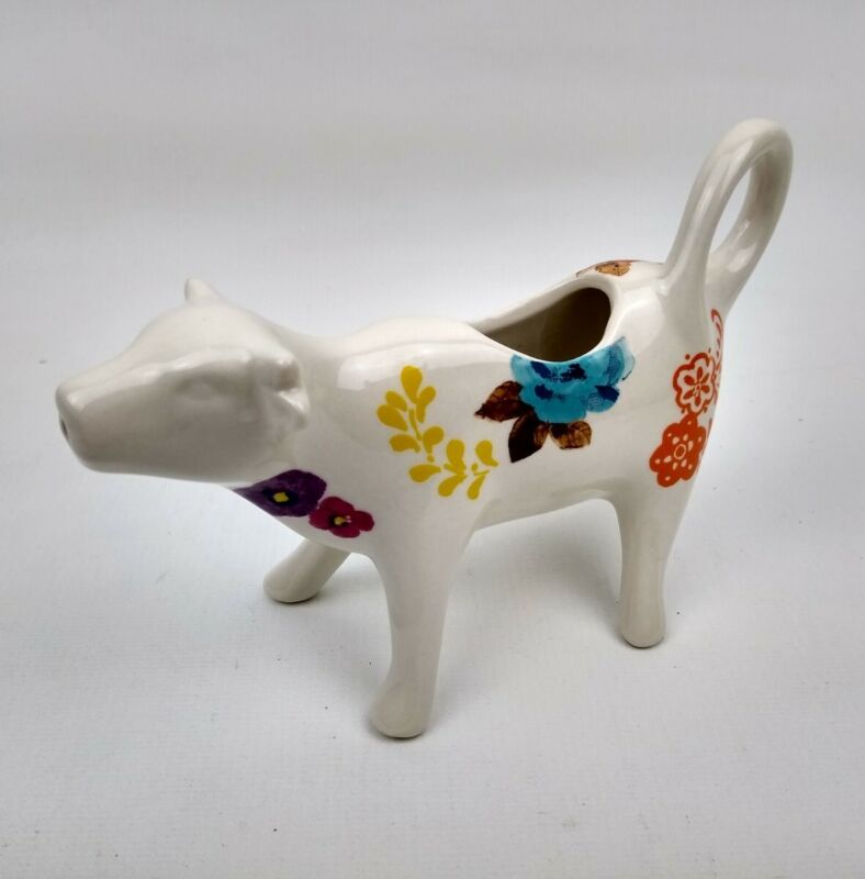 The Pioneer Woman Cow Creamer Timeless Floral Flea Market Country Charm Farm