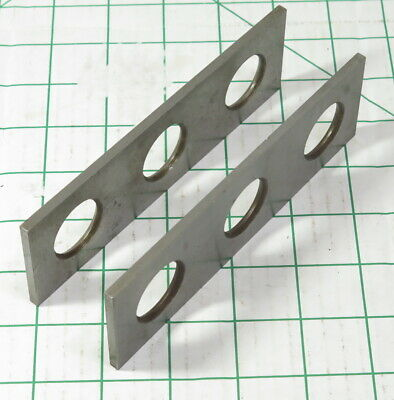 Vtg Machinists 6 Flat Drilled Steel Milling Drilling Fixture Parallels Pair