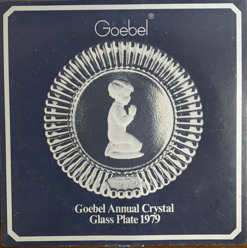 Goebel Annual Crystal Glass Collector Plate 1979 Open Box