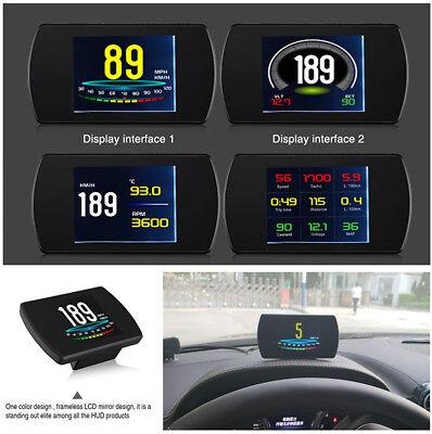 Car On-Board Computer OBD Head Up Display Digital Speed Projector Multi-function