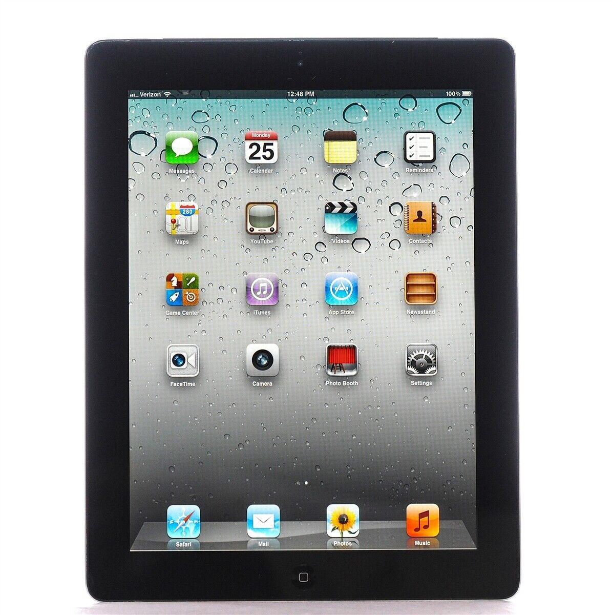 Apple iPad 4th Gen. 128GB, Wi-Fi, 9.7in - Black - Tested - Bundle A1458
