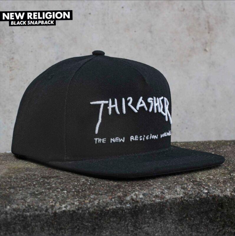 Thrasher Magazine Mark Gonzales NEW RELIGION Snapback Skateboard Hat BLACK