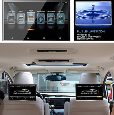 11.6'' HD 1080P Android 6.0 Headrest Rear Seat Monitor WIFI 3G/4G BT OBD TPMS
