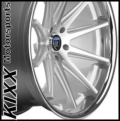 "22"" ROHANA RC10 22x9/10.5 SILVER CONCAVE WHEELS For LEXUS LS460 LS600"