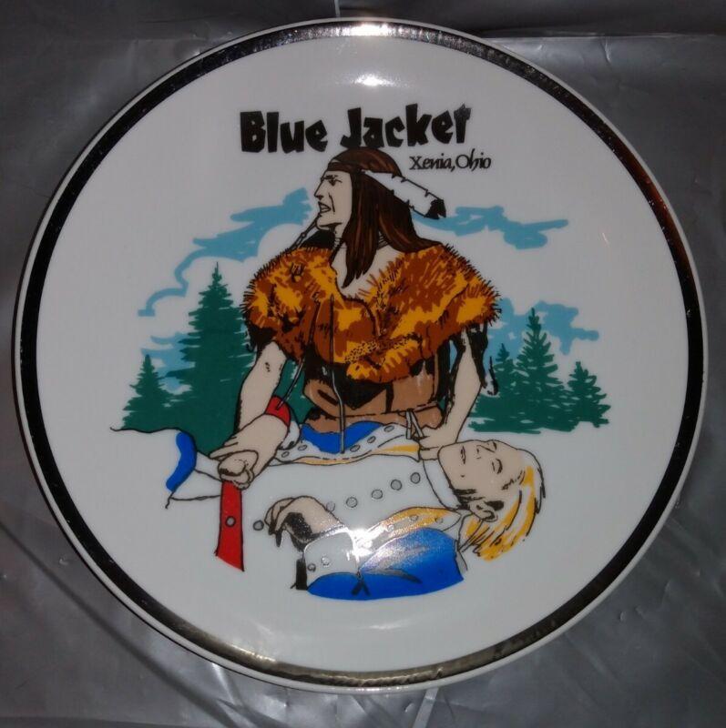 Souvenir Native American Plate Blue Jacket Outdoor Drama Theater Xenia Ohio