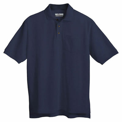 Tri Mountain Mens Cotton Poly Short Sleeve Chest Pocket Pique Golf T Shirt  206