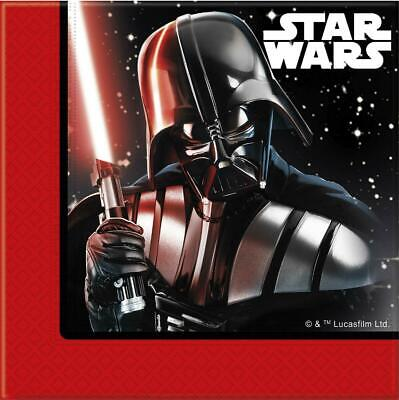 STAR WARS PACK OF 20 PARTY NAPKINS DARTH VADER STORMTROOPER PARTWARE DISNEY NEW