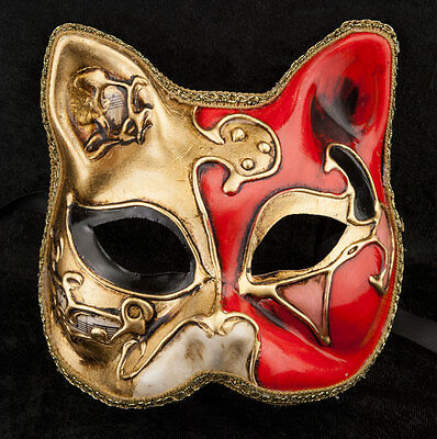 Mask from Venice Cat Gatto-Carnival-Muse Orange Golden -2017-V82B