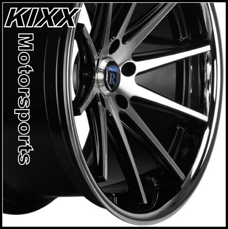 "20"" Rohana Rc10 20x9/11 Black/silver Wheels Rims For Bmw E60 5 Series"