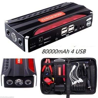 mAh Portable Car Jump Starter Pack Booster Battery Charger USB Power Bank