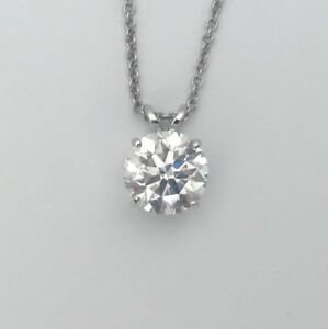 12 carat diamond pendant ebay natural round e vs2 diamond solitaire pendant necklace 14k white gold 12 carat aloadofball Gallery