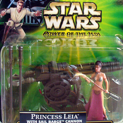 Star Wars Power of Jedi - Princess Leia in slave costume - w Sail Barge Cannon