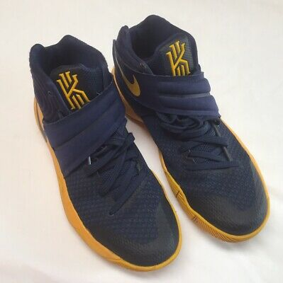 Nike Kyrie 2 Cavs Men's Basketball Shoes Size 8 Navy Yellow 819583-447