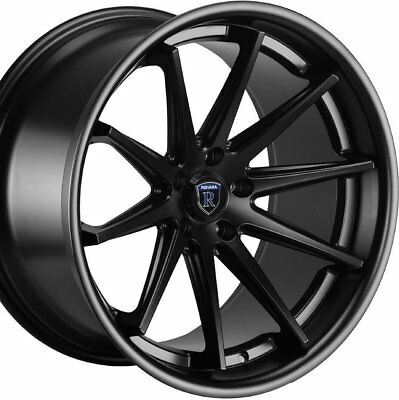 "19"" STAGGERED ROHANA RC10 19x8.5 19x9.5 BLACK CONCAVE WHEELS RIMS"