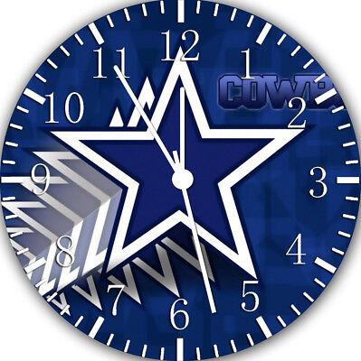 Dallas Cowboys Frameless ohne Grenzen Wanduhr Schön für Geschenk oder Dekor Z180 ()