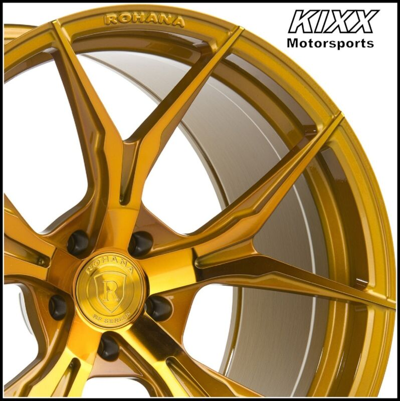 "20"" Rohana Rfx5 20x9 20x11 Gold Forged Concave Wheels For Porsche 991 911"