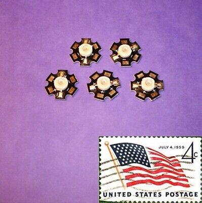 5x Purple 3w 20mm Star Wide Angle Leds Light Chip Smd Smt Usa