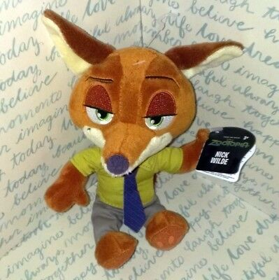 Nick Wilde Zootopia Movie Character, New With Tags, Soft Plush Kids Toy