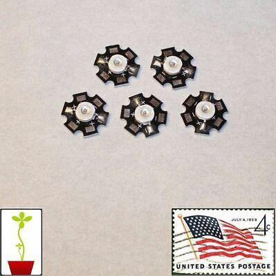 5x Deep Red 3w 660nm Grow Light Leds Hydroponics 20mm Star Usa